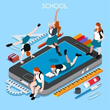 School Devices 01 People Isometric
