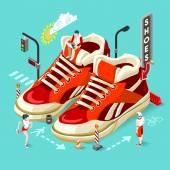 Photo Sneakers Shop People Isometric