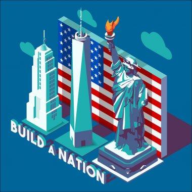 NYC Monuments Landmarks Isometric