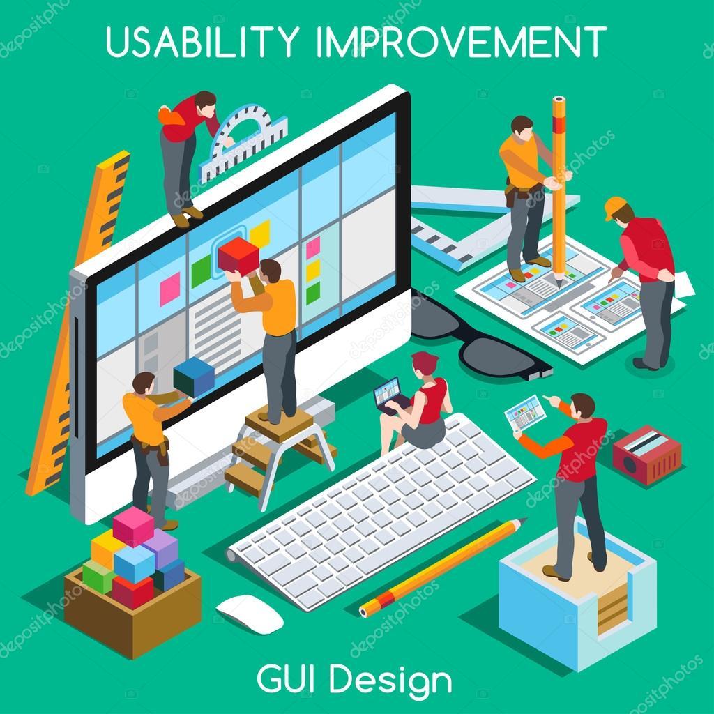 GUI design People Isometric