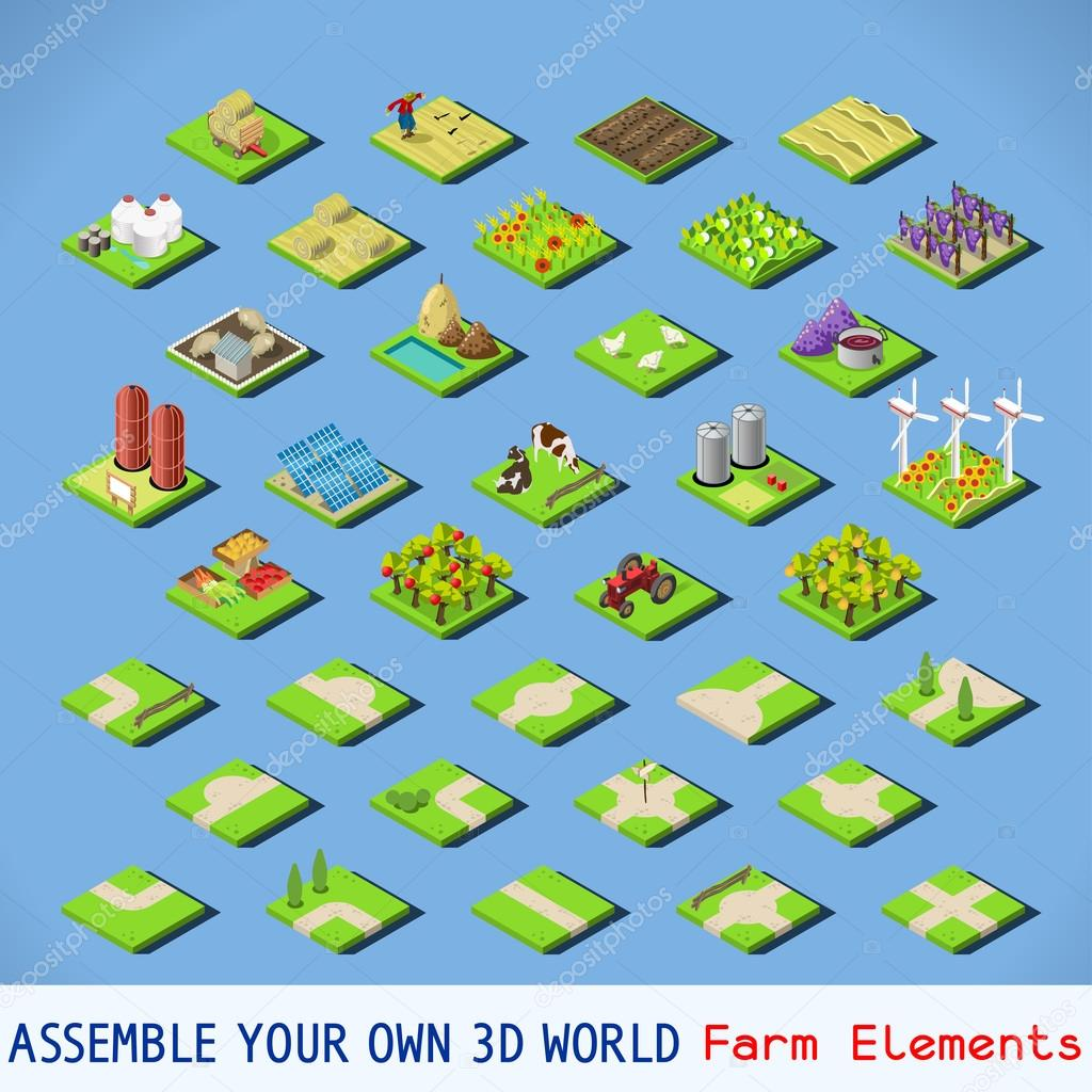 City 02 COMPLETE Set Isometric