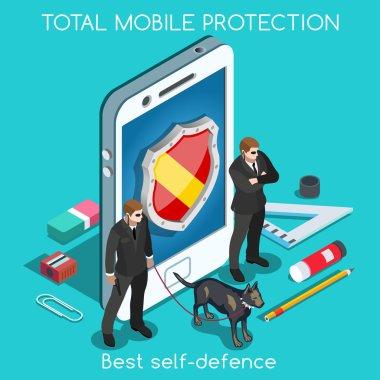 Security App 01 Concept Isometric