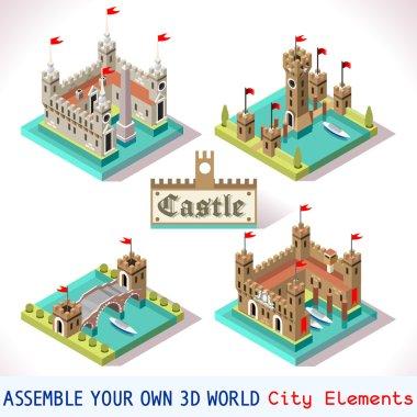 Castle 03 Tiles Isometric