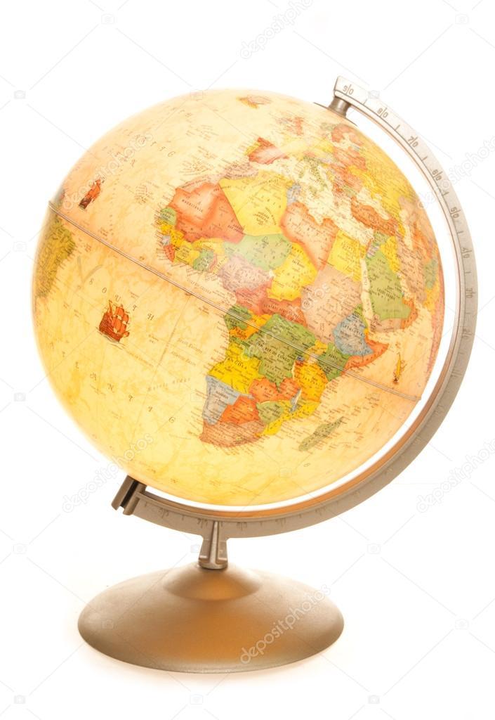 Vintage world map globe glowing stock photo chrisbrignell 53472409 vintage world map globe glowing stock photo gumiabroncs Images