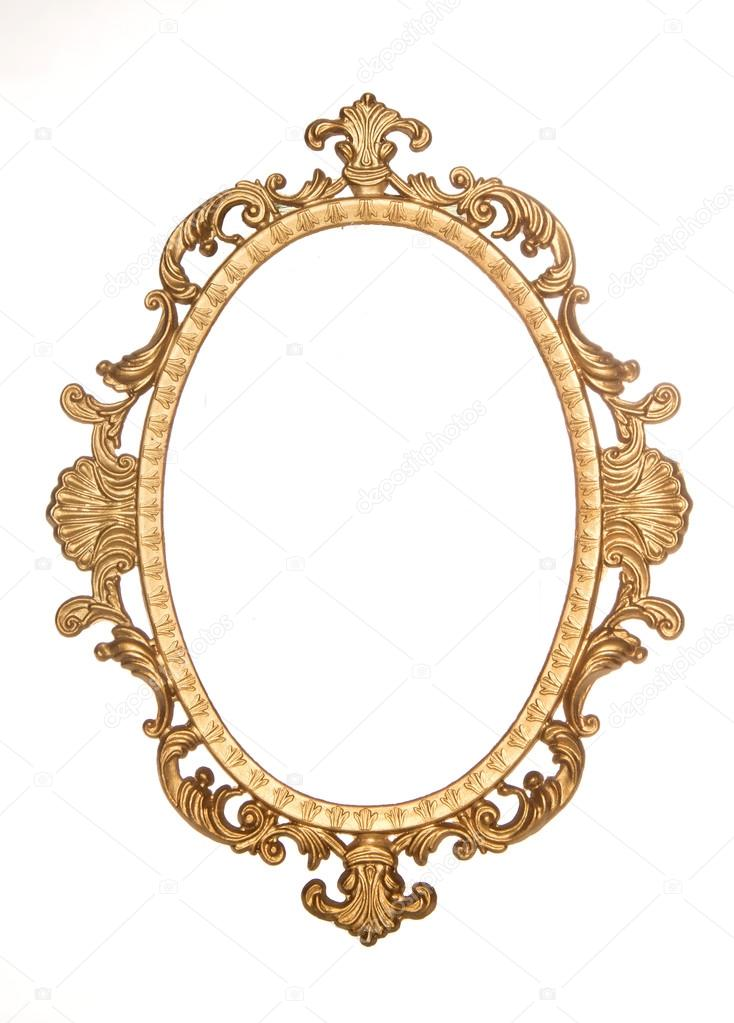 Marco rococó decorativo dorado oro — Fotos de Stock © chrisbrignell ...