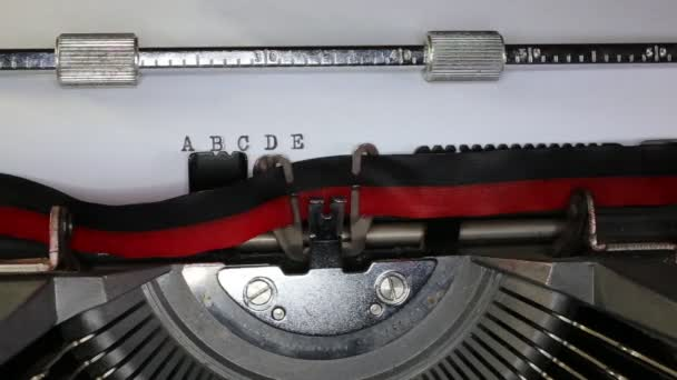 TYPEWRITER with written in the paper