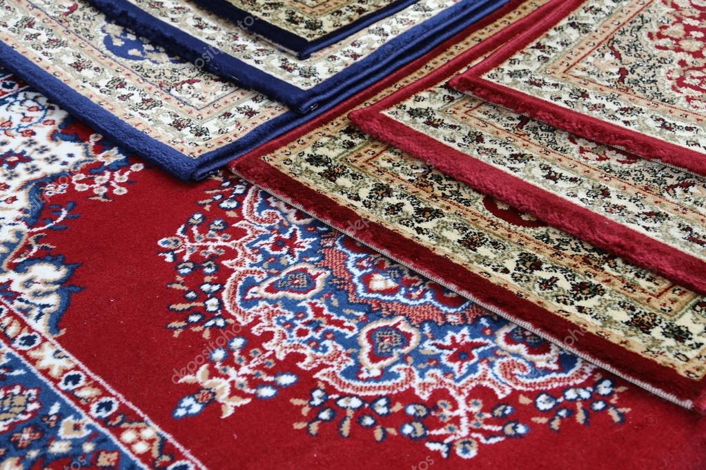 Carpets Decorated In An Islamic Mosque Stock Photo