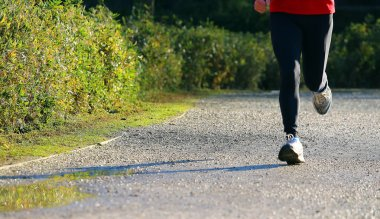 runner make physical activity before going to work