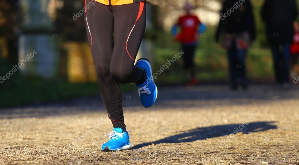 runner run  in the Park during training for the marathon