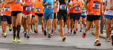 Vicenza, Italy. 20th September 2015.  Marathon runners on the road