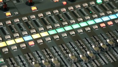 mixing console of a complicated system hi fi