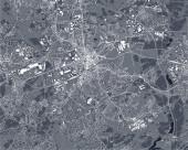Vektorkarte der Stadt Bochum, Arnsberg, Deutschland