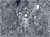 Karte der Stadt Chemnitz, Deutschland