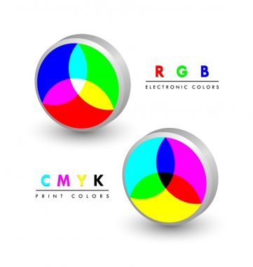 Rgb and cmyk icons
