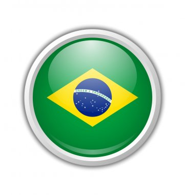 Brazilian icon on white background