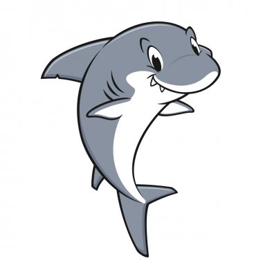 Cartoon Friendly Shark