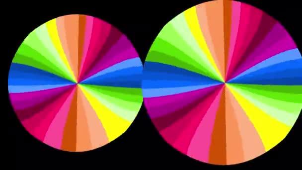 Fényes szivárvány animáció forgó kerek színes foltok. Közösségi szimbólum volt. Színes festék átmenet