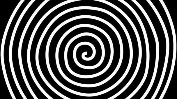 Abstrakter Bewegungshintergrund mit rotierender hypnotischer Spirale in perfekter Nahtlosschleife