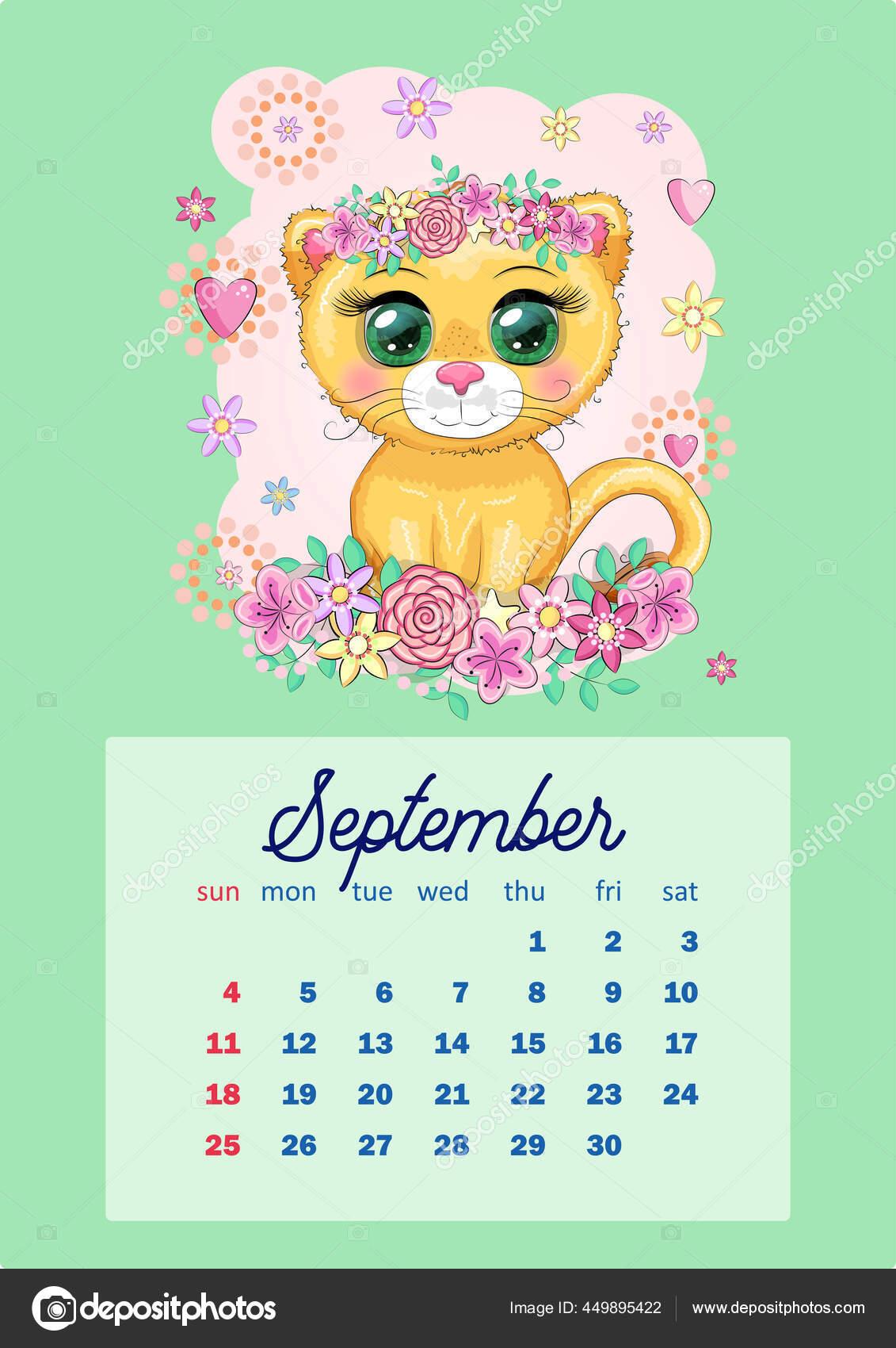 Depo Calendar 2022 Printable.Calendar 2022 Cute Cardboard Animals Every Month Tiger Snow Leopard Vector Image By C Michiru13 Vector Stock 449895422