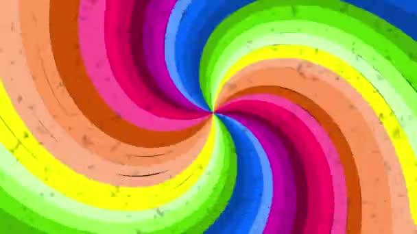 Pszichedelikus optikai illúzió spektruma. Absztrakt szivárvány hipnotikus animált háttér. Fényes hurkos színes tapéta. Szürreális többszínű dinamikus háttér.