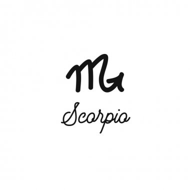 Zodiac sign traditional symbol, hand drawn with signature. Magical ancient mystical symbol.