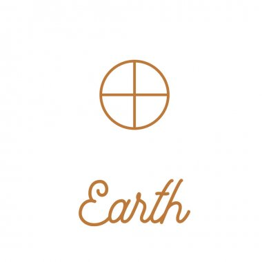 Zodiac and astrological symbols of the planets in trendy beige