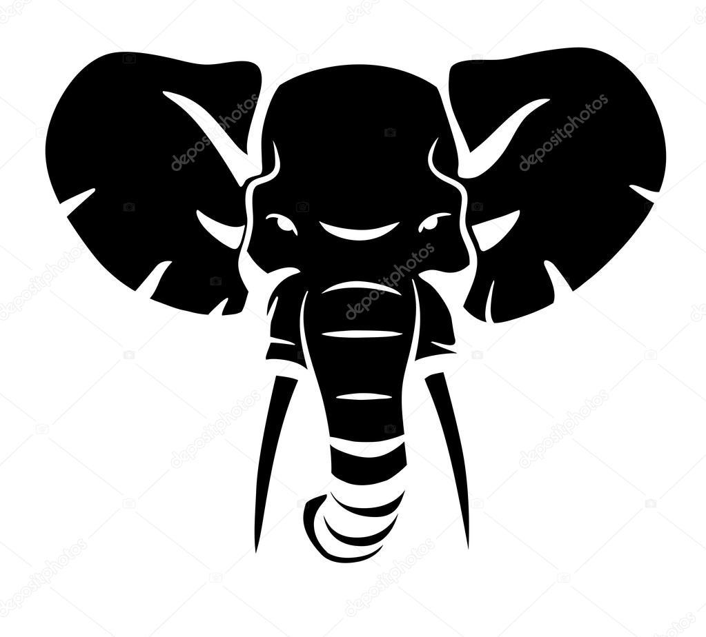 indian elephant head logo. Black Bedroom Furniture Sets. Home Design Ideas