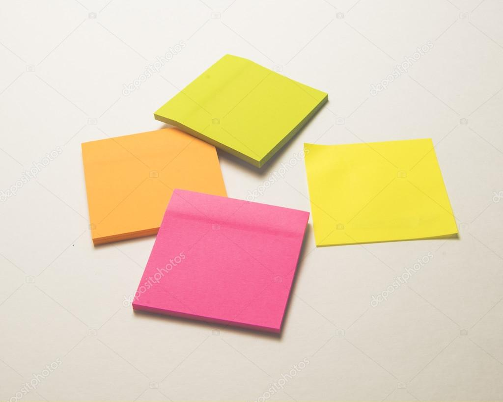 Sticky paper for notes stock photo timothyoleary 115996488 colored stationery for memos reminders and notes photo by timothyoleary jeuxipadfo Images