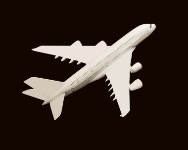 Model of an Airbus 380 commercial jet stock vector
