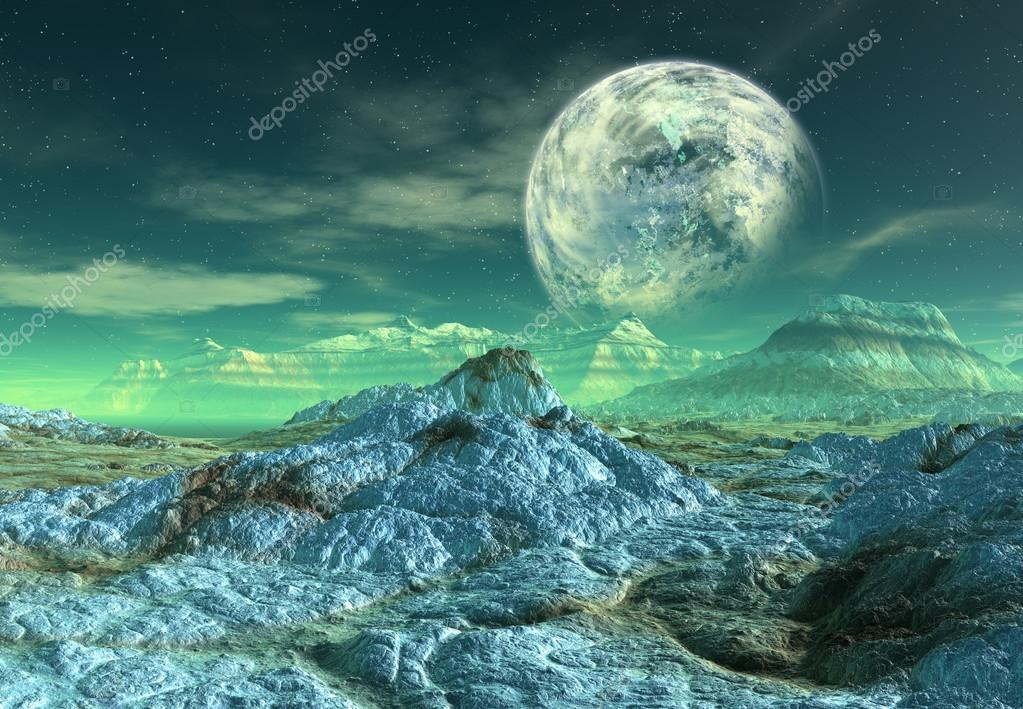 Alien Landscape Wallpaper Alien Planet 3d Rendered