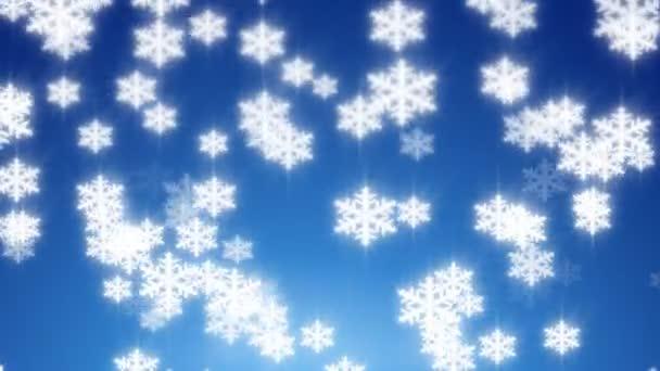 sněhové vločky padající