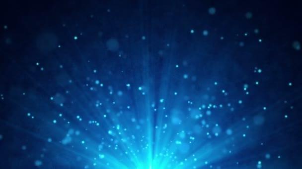 Nebe modré částice pohybu pozadí smyčka