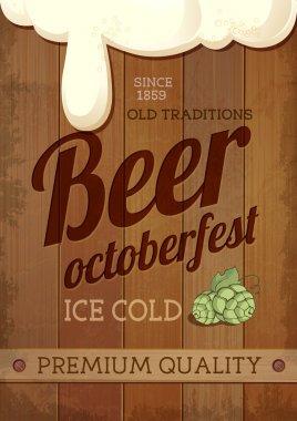 Vintage Beer octoberfest poster
