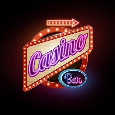 Neon sign. Casino