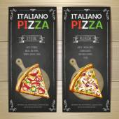 Photo Set of pizza menu banners
