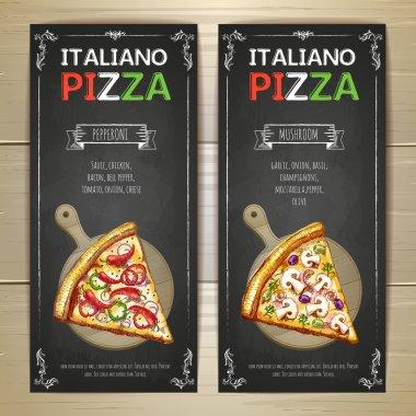 Set of pizza menu banners