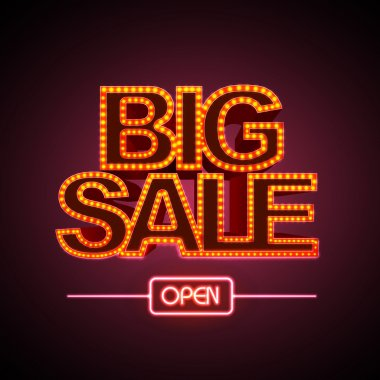 Neon sign big sale open