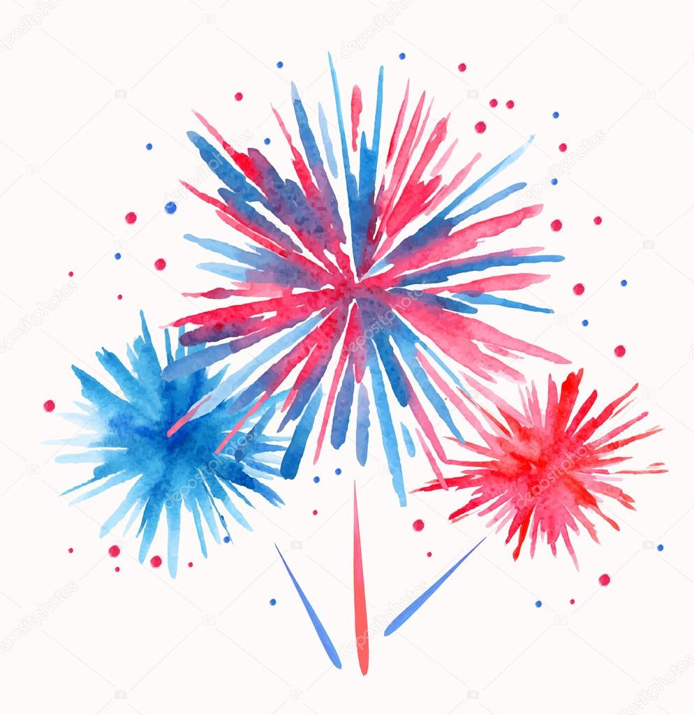 vector watercolor firework stock vector  u00a9 annbozshko arts and crafts clip art black and white arts and crafts clip art images
