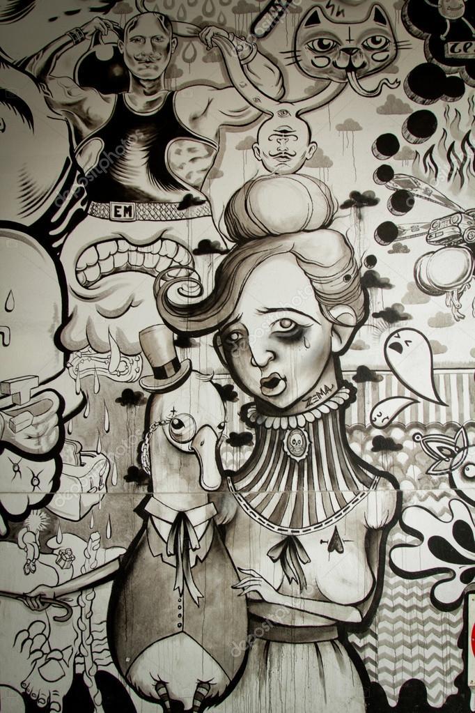 Imagenes De Murales En Blanco Y Negro