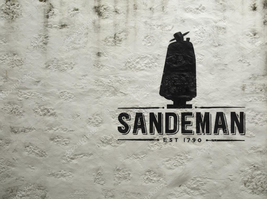 logo der sandeman porto wein in portugal � stockfoto