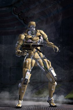 Robot Futuristic soldier