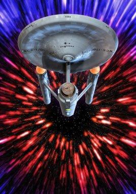 Starship Enterprise warp