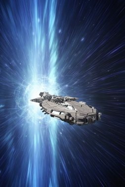 spaceship at the speed of light