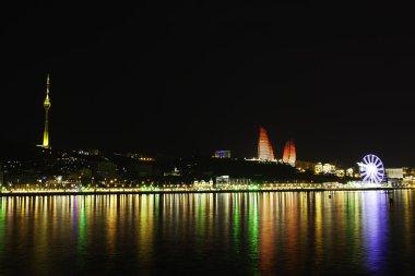 Baku panorama with highland park