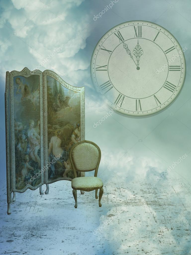 Fantasy room in the sky