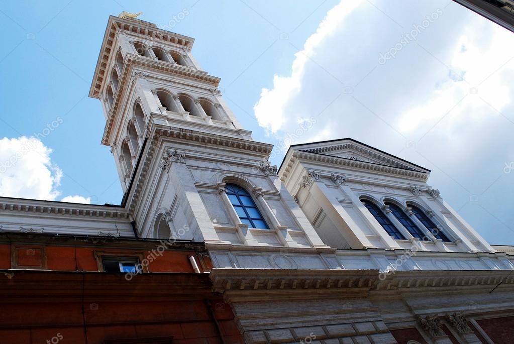 Kleine Sacro Cuore kerk in Rome in de buurt van station Termini ...
