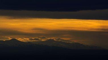 dramatic sunset. Yerevan, Armenia