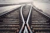 Vintage vasúti elágazás