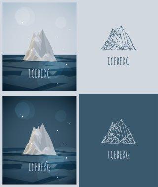 Vector low-poly iceberg.