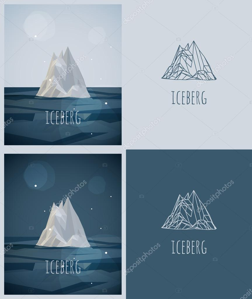 Vector low-poly iceberg.